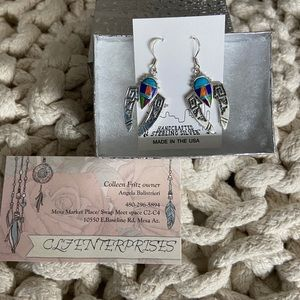 New Mexico inlay earrings by Begay